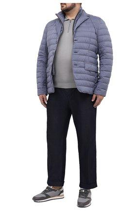 Мужское шелковое поло SVEVO серого цвета, арт. 3501/BSE20L/MP35 | Фото 2