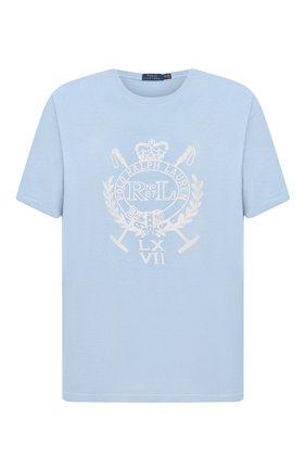Мужская хлопковая футболка POLO RALPH LAUREN голубого цвета, арт. 711823546/PRL BS | Фото 1
