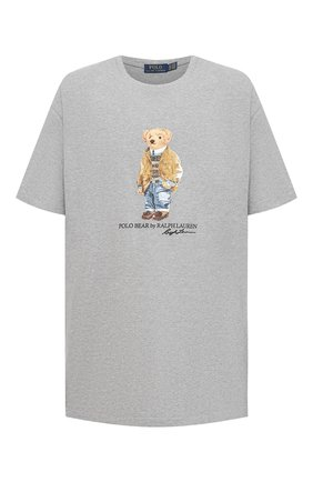 Мужская хлопковая футболка POLO RALPH LAUREN серого цвета, арт. 711829161/PRL BS | Фото 1