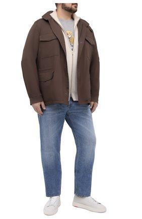 Мужская хлопковая футболка POLO RALPH LAUREN серого цвета, арт. 711829161/PRL BS | Фото 2