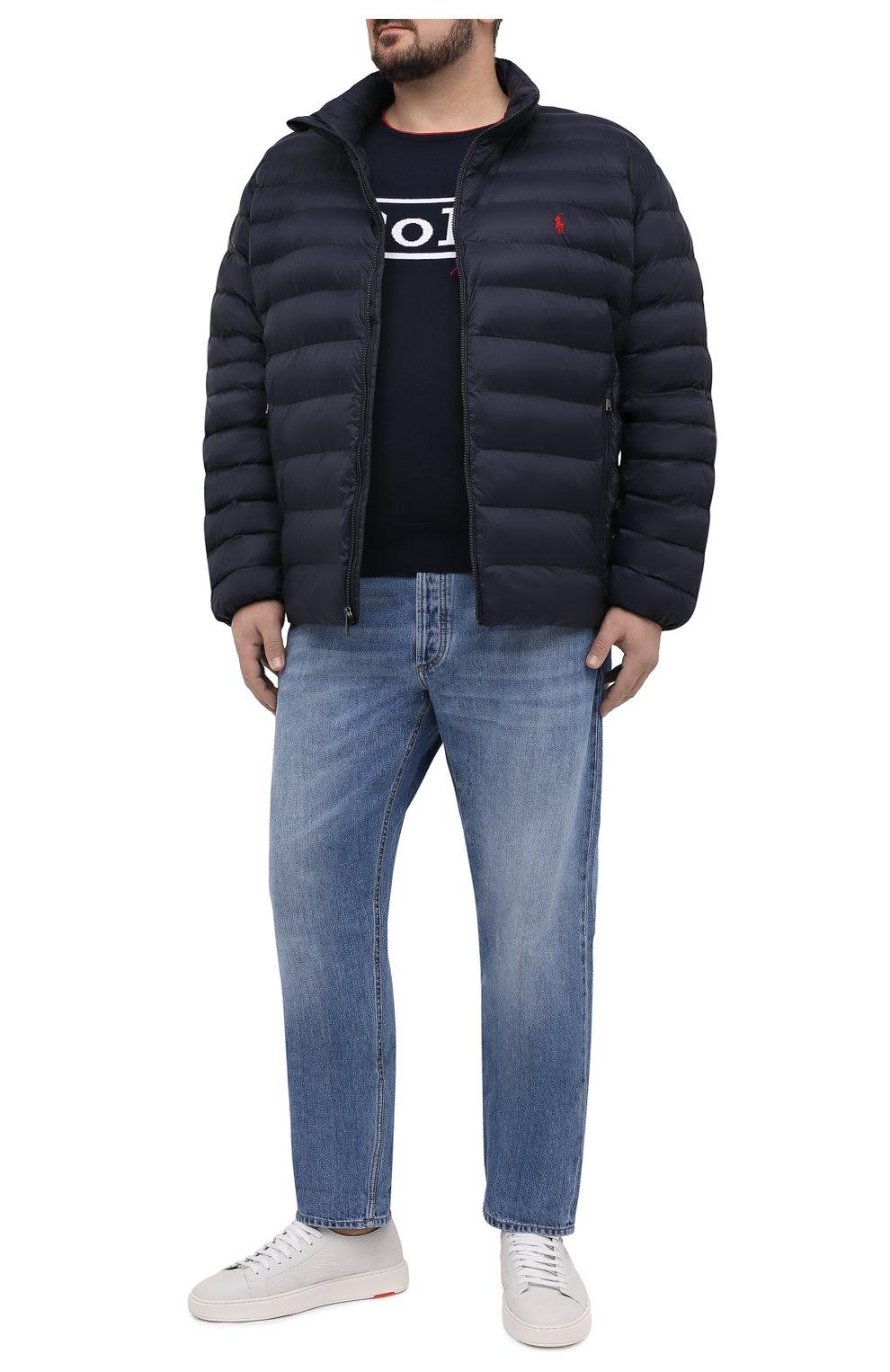 Мужская утепленная куртка POLO RALPH LAUREN темно-синего цвета, арт. 711810897/PRL BS   Фото 2
