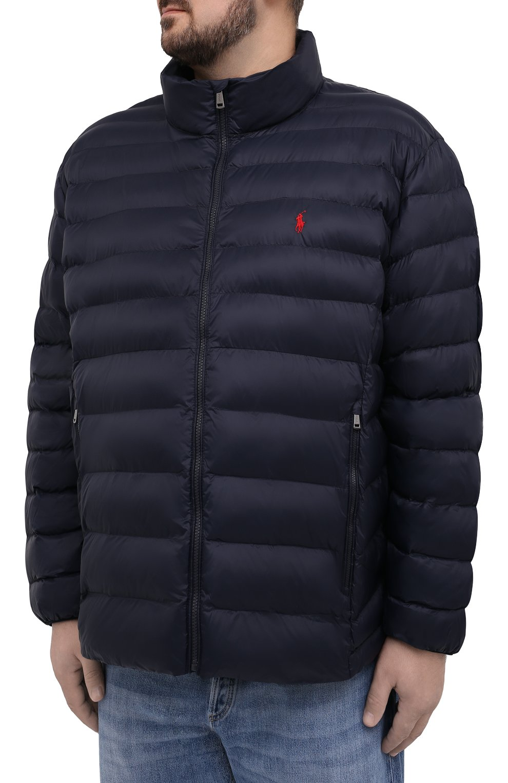 Мужская утепленная куртка POLO RALPH LAUREN темно-синего цвета, арт. 711810897/PRL BS   Фото 3