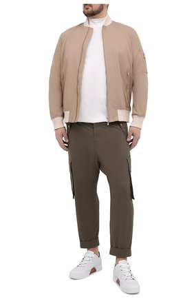 Мужские хлопковые брюки-карго BALMAIN хаки цвета, арт. VH1PQ006/C188 | Фото 2