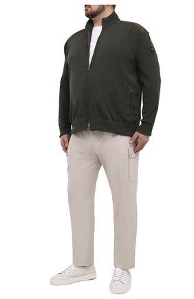 Мужской кардиган PAUL&SHARK темно-зеленого цвета, арт. C0P1029/FUP/3XL-6XL | Фото 2