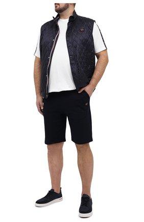 Мужские хлопковые шорты PAUL&SHARK темно-синего цвета, арт. 21411936/C00/3XL-6XL | Фото 2