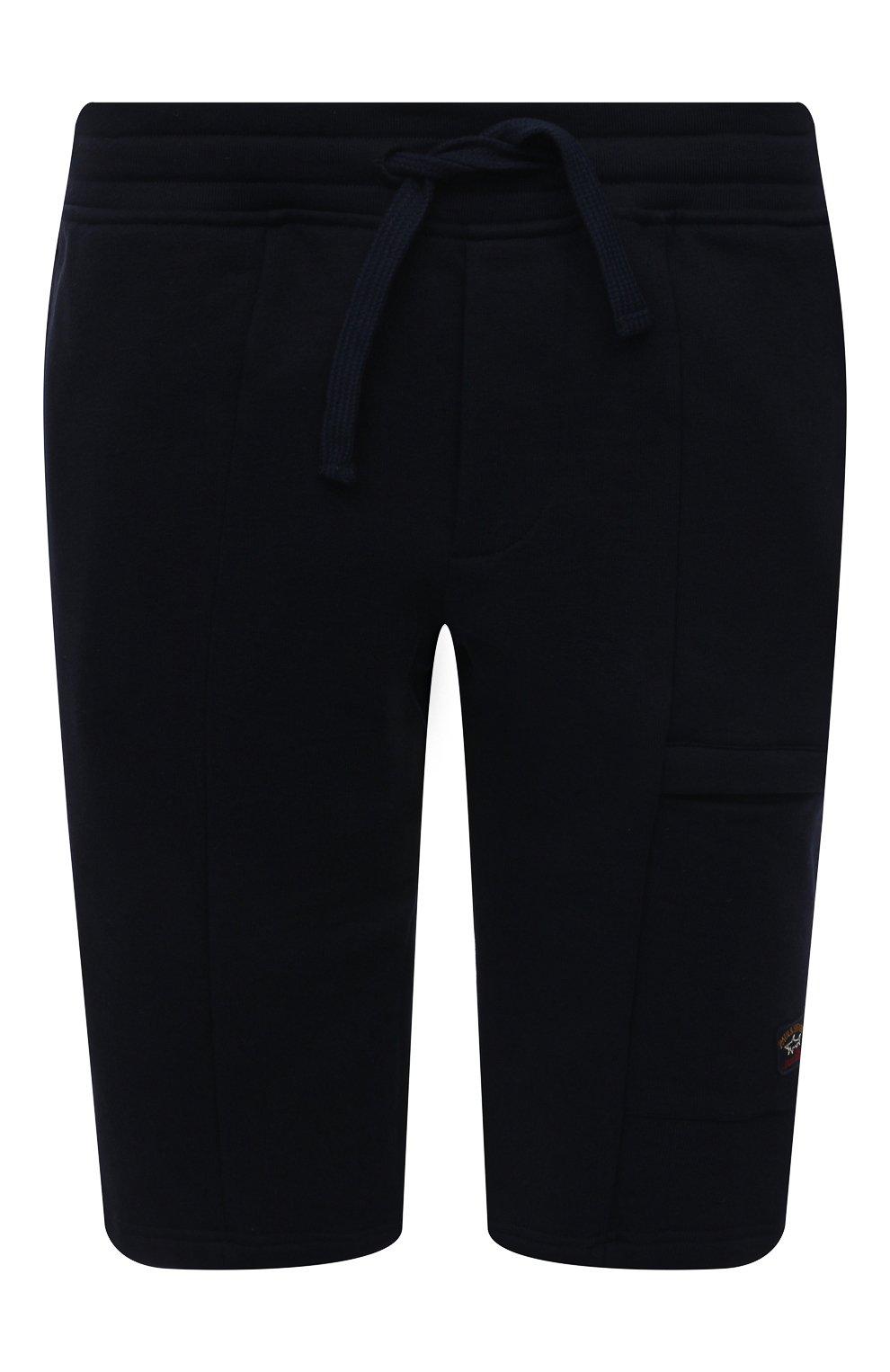 Мужские хлопковые шорты PAUL&SHARK темно-синего цвета, арт. 21411883/C00/3XL-6XL   Фото 1