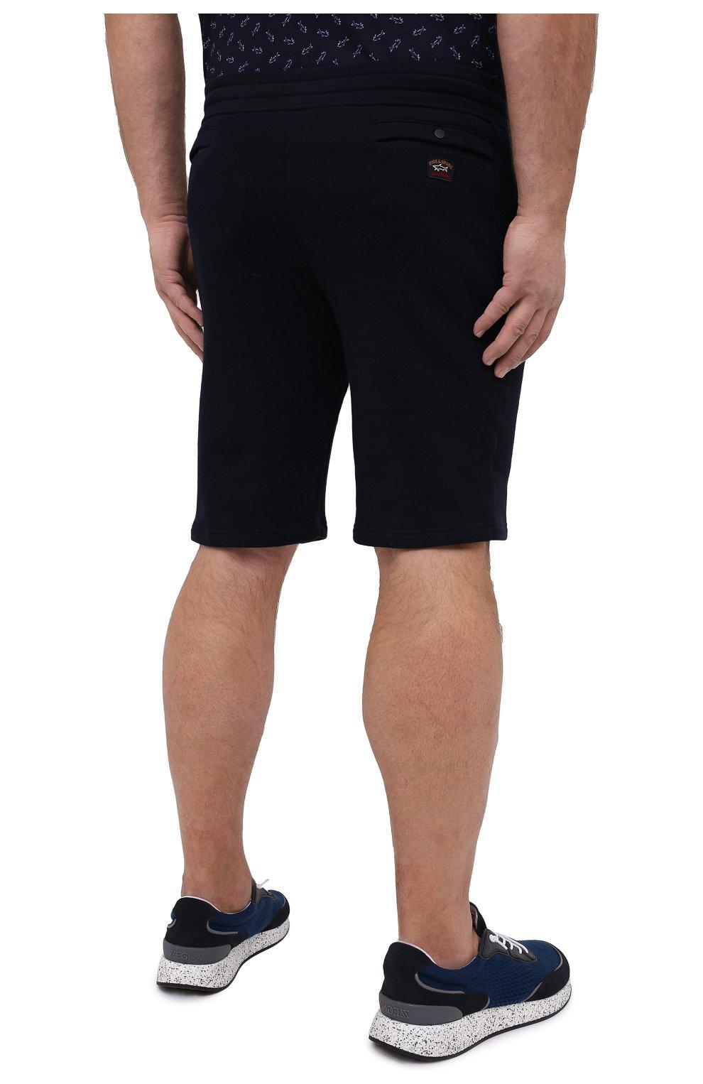 Мужские хлопковые шорты PAUL&SHARK темно-синего цвета, арт. 21411883/C00/3XL-6XL   Фото 4