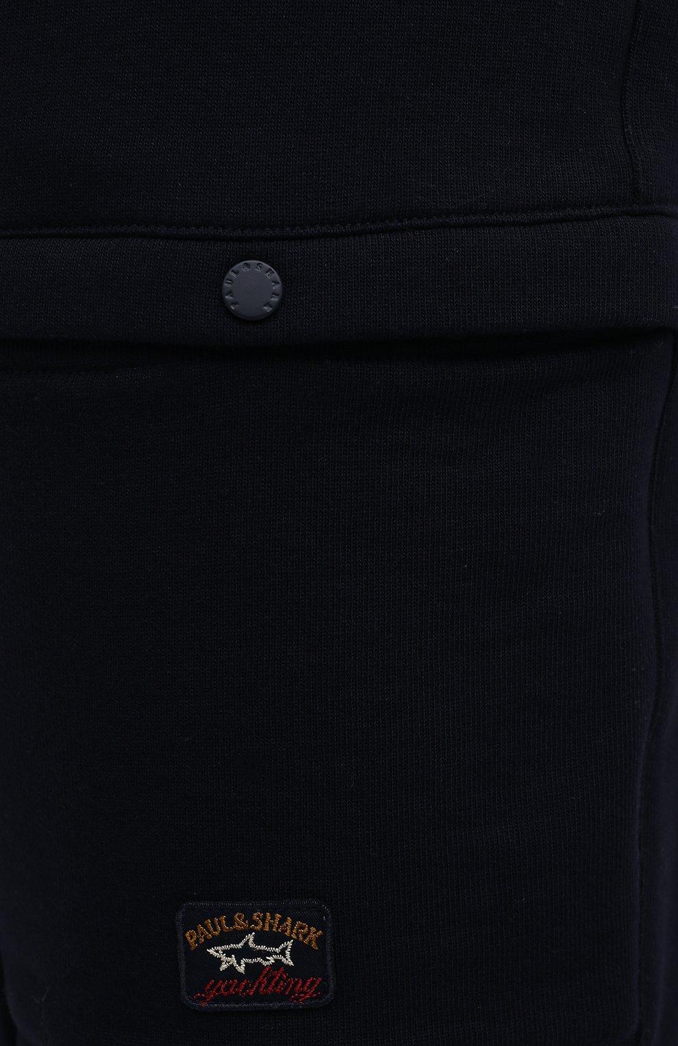 Мужские хлопковые шорты PAUL&SHARK темно-синего цвета, арт. 21411883/C00/3XL-6XL   Фото 5