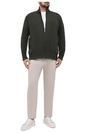 Мужская хлопковая футболка PAUL&SHARK белого цвета, арт. 21411022/C00/3XL-6XL | Фото 2 (Рукава: Короткие; Длина (для топов): Удлиненные; Стили: Кэжуэл; Материал внешний: Хлопок; Принт: С принтом)