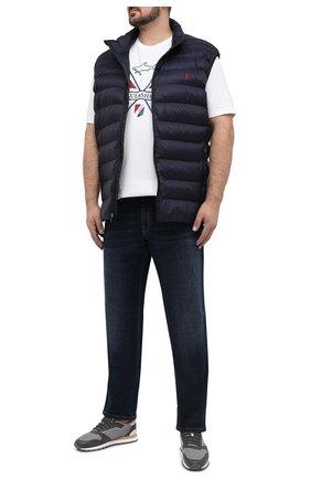 Мужская хлопковая футболка PAUL&SHARK белого цвета, арт. 21411018/C00/3XL-6XL | Фото 2 (Стили: Спорт-шик; Принт: С принтом; Рукава: Короткие; Материал внешний: Хлопок; Длина (для топов): Удлиненные)