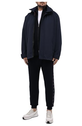 Мужская хлопковая футболка PAUL&SHARK белого цвета, арт. 21411015/C00/3XL-6XL | Фото 2 (Материал внешний: Хлопок; Стили: Кэжуэл; Длина (для топов): Удлиненные; Рукава: Короткие; Принт: Без принта)