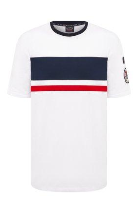 Мужская хлопковая футболка PAUL&SHARK белого цвета, арт. 21411010/C00/3XL-6XL | Фото 1