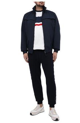 Мужская хлопковая футболка PAUL&SHARK белого цвета, арт. 21411010/C00/3XL-6XL | Фото 2