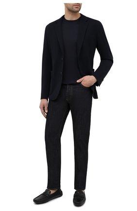 Мужские кожаные мокасины BARRETT темно-синего цвета, арт. ASC-10524.2/CERV0 ASP0RTABILE | Фото 2