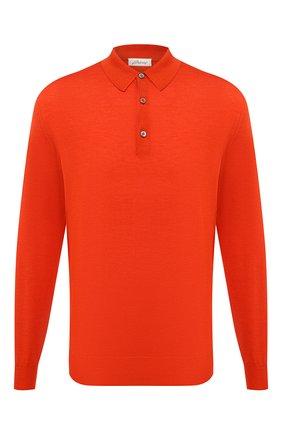 Мужское поло из кашемира и шелка BRIONI оранжевого цвета, арт. UMR30L/P9K28 | Фото 1