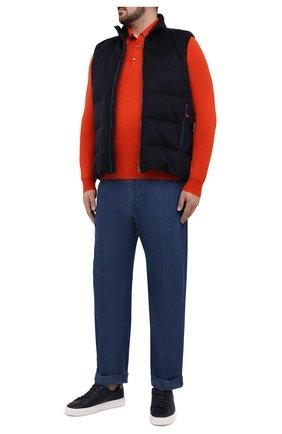 Мужское поло из кашемира и шелка BRIONI оранжевого цвета, арт. UMR30L/P9K28 | Фото 2