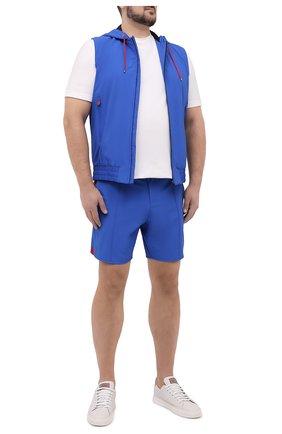 Мужские шорты KITON голубого цвета, арт. UW0946V07T91/60-68 | Фото 2