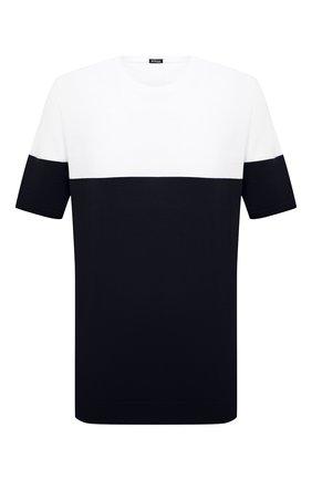Мужской хлопковый джемпер KITON черно-белого цвета, арт. UK1035L | Фото 1