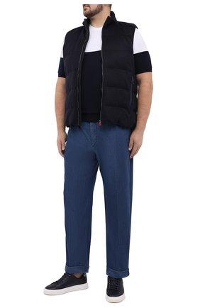 Мужской хлопковый джемпер KITON черно-белого цвета, арт. UK1035L | Фото 2