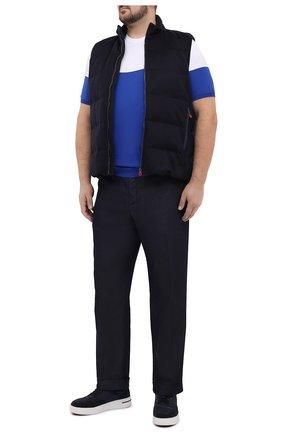 Мужской хлопковый джемпер KITON синего цвета, арт. UK1035L | Фото 2