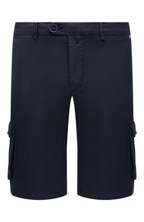 Мужские шорты из хлопка и шелка KITON темно-синего цвета, арт. UFPPBJ07T42/44-52 | Фото 1