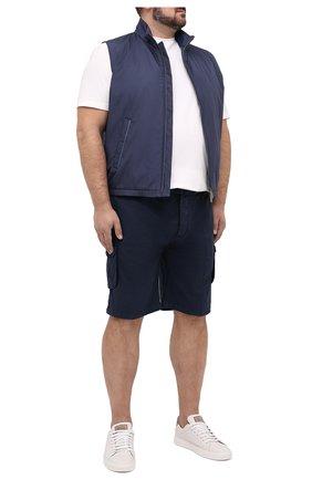 Мужские шорты из хлопка и шелка KITON темно-синего цвета, арт. UFPPBJ07T42/44-52 | Фото 2