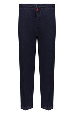 Мужские джинсы KITON темно-синего цвета, арт. UFPLAC/J07T26 | Фото 1