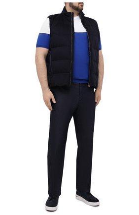 Мужские джинсы KITON темно-синего цвета, арт. UFPLAC/J07T26 | Фото 2