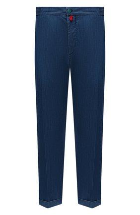 Мужские джинсы KITON синего цвета, арт. UFPLAC/J07T26 | Фото 1