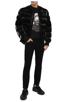 Мужская хлопковая футболка NEIL BARRETT черного цвета, арт. PBJT915A/Q538S | Фото 2