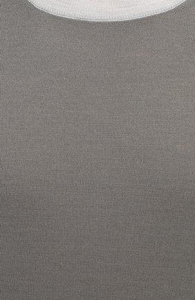 Мужской джемпер из шерсти и кашемира BRUNELLO CUCINELLI хаки цвета, арт. M24802700   Фото 5