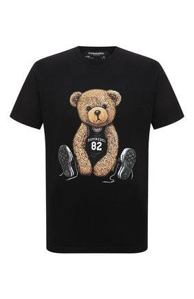 Мужская хлопковая футболка DOMREBEL черного цвета, арт. PLAY/T-SHIRT | Фото 1