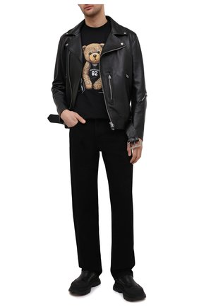 Мужская хлопковая футболка DOMREBEL черного цвета, арт. PLAY/T-SHIRT | Фото 2
