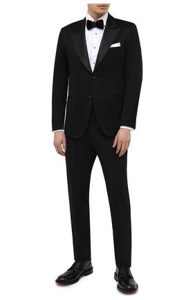 Мужской хлопковый пиджак KITON черного цвета, арт. UGSM862H07609 | Фото 2