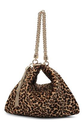 Женская сумка callie JIMMY CHOO леопардового цвета, арт. CALLIE/HYT | Фото 1