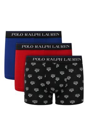 Мужские комплект из трех боксеров POLO RALPH LAUREN разноцветного цвета, арт. 714830299/012 | Фото 1