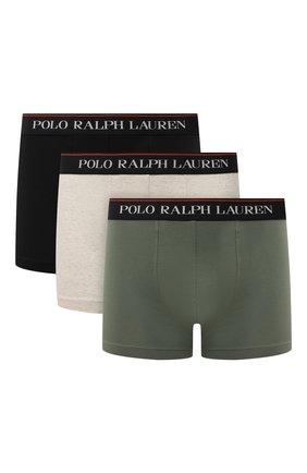 Мужские комплект из трех боксеров POLO RALPH LAUREN разноцветного цвета, арт. 714830299/017 | Фото 1