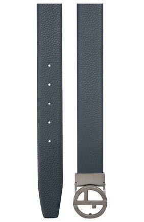 Мужской кожаный ремень GIORGIO ARMANI синего цвета, арт. Y2S264/YSR3X | Фото 2