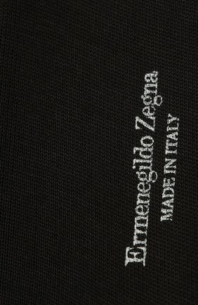 Мужские хлопковые носки ERMENEGILDO ZEGNA темно-серого цвета, арт. N4V400010 | Фото 2
