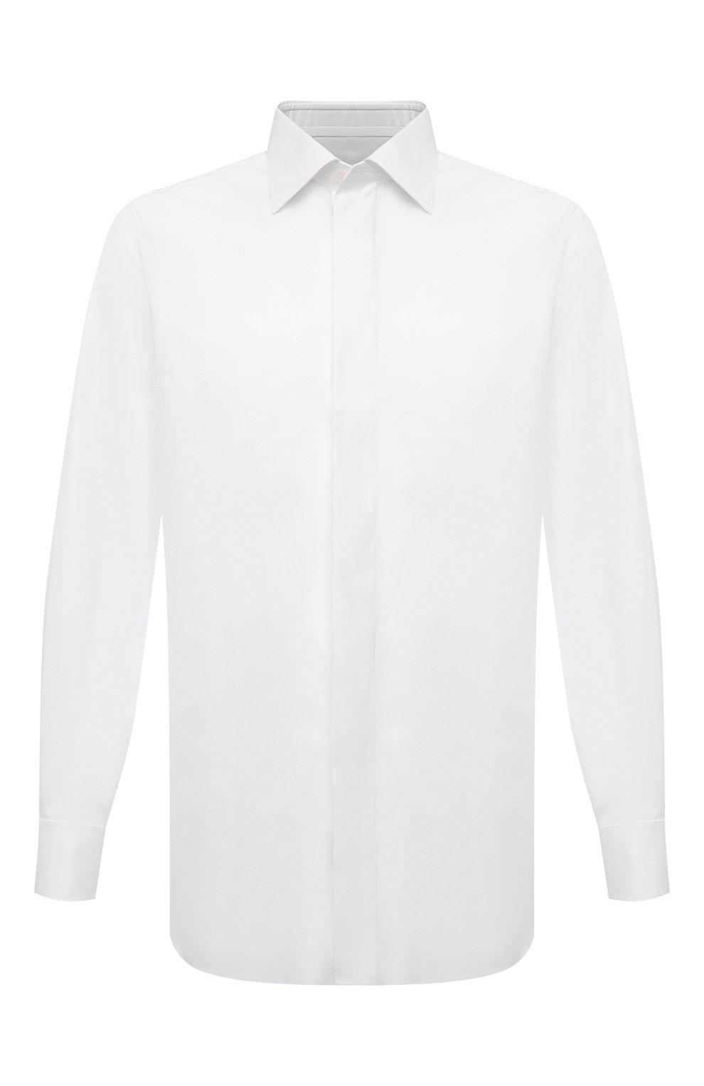 Мужская хлопковая сорочка BRIONI белого цвета, арт. RCXF0L/PZ023   Фото 1