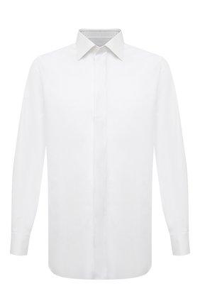 Мужская хлопковая сорочка BRIONI белого цвета, арт. RCXF0L/PZ023 | Фото 1
