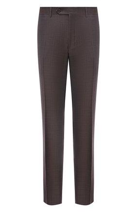 Мужские шерстяные брюки CANALI коричневого цвета, арт. 71019/AA02524 | Фото 1