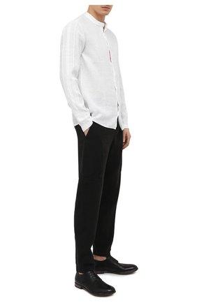 Мужские кожаные дерби MOMA черного цвета, арт. 2AS120-S0 | Фото 2