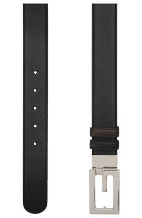 Мужской двусторонний кожаный ремень GUCCI черного цвета, арт. 626974/AP0BN | Фото 2