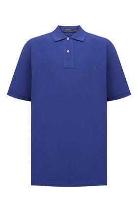 Мужское хлопковое поло POLO RALPH LAUREN синего цвета, арт. 711534735/PRL BS | Фото 1