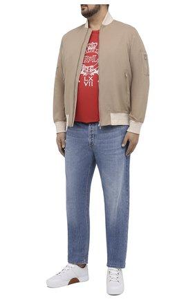 Мужская хлопковая футболка POLO RALPH LAUREN кораллового цвета, арт. 711823546/PRL BS | Фото 2
