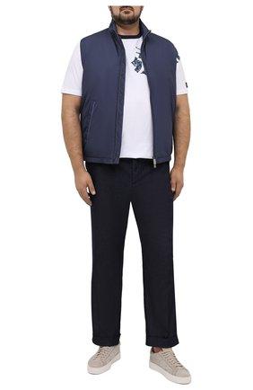 Мужская хлопковая футболка PAUL&SHARK белого цвета, арт. 21411073/C00/3XL-6XL | Фото 2
