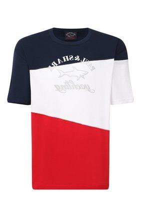 Мужская хлопковая футболка PAUL&SHARK разноцветного цвета, арт. 21411100/C00/3XL-6XL   Фото 1