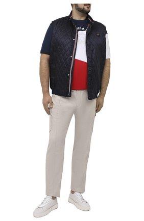 Мужская хлопковая футболка PAUL&SHARK разноцветного цвета, арт. 21411100/C00/3XL-6XL   Фото 2