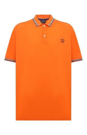 Мужское хлопковое поло PAUL&SHARK оранжевого цвета, арт. 21411298/C00/3XL-6XL | Фото 1